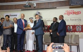 UAE Exchange – Chiranthana P.V. Vivekanand Media Awards honors Sashi Kumar