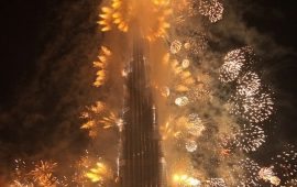 A special dragon-themed light and sound show marks the Chinese New Year at the Burj Khalifa