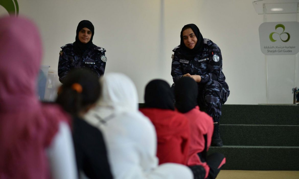 Sharjah Girl Guides participate in a two-day boot camp under the theme, 'Zayed the Leader'
