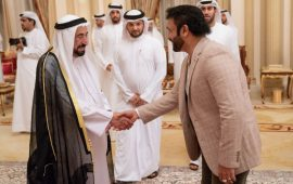 VT Salim meets with the Sharjah Ruler