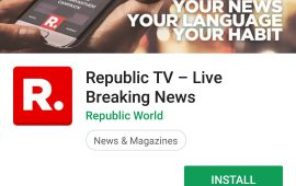 Republic TV channel's Android Apps Rating gone down drastically after Malayali controversy
