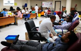 Over 60 staff donates blood