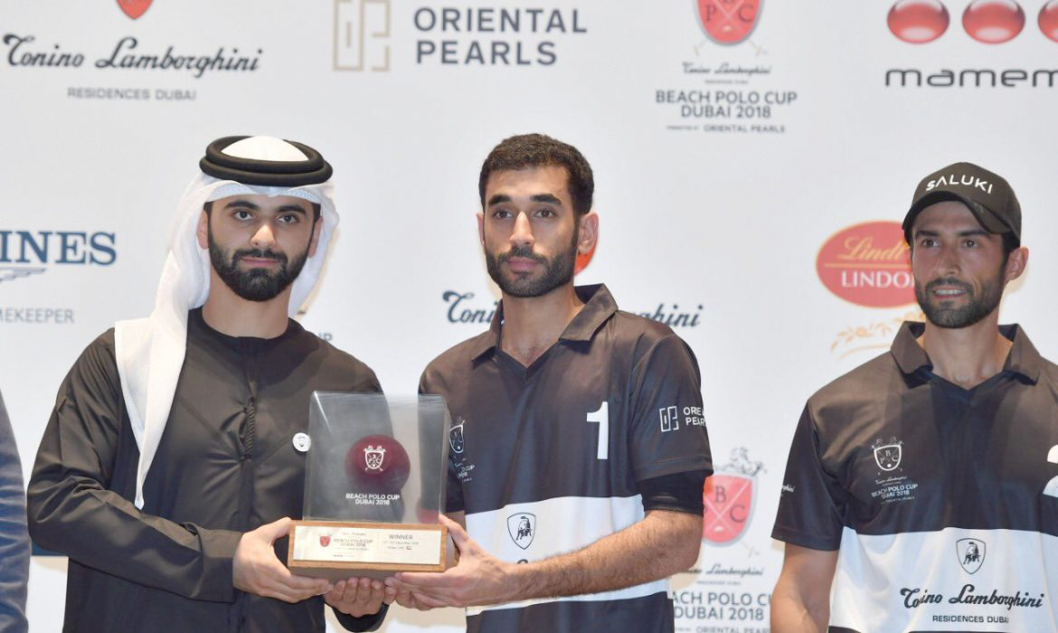 "Sheikh Mansoor honours the winners of the ""Tonino Lamborghini Residences"" Beach Polo Cup"