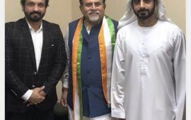 AICC Secretary meets Sharjah Ruler's Office Chairman, discussions held on Rahul Gandhi's visit